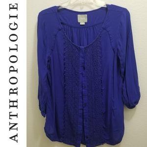 ANTHROPOLOGIE 'Maeve' Blue Blouse